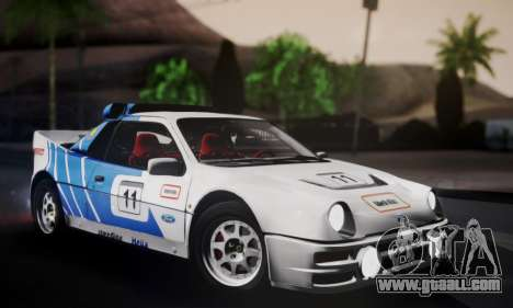 Ford RS200 Evolution 1985 for GTA San Andreas interior