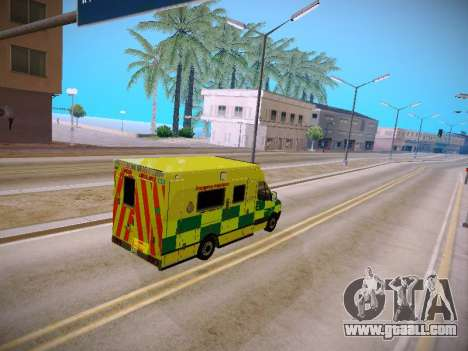 Mercedes-Benz Sprinter London Ambulance for GTA San Andreas inner view