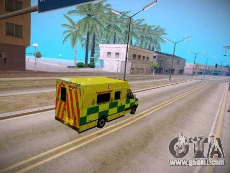 Mercedes-Benz Sprinter London Ambulance for GTA San Andreas inner view