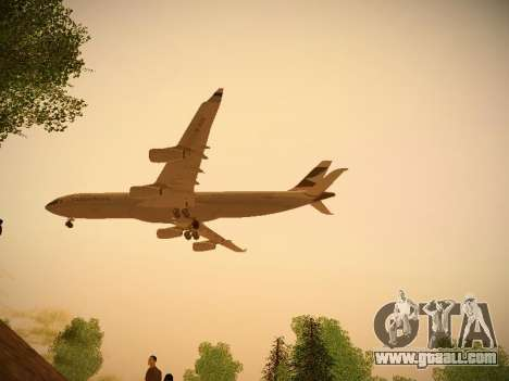 Airbus A340-300 Cathay Pacific for GTA San Andreas back view