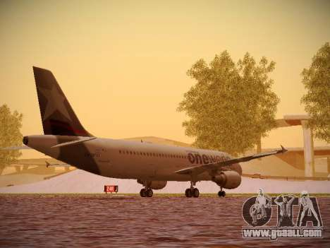 Airbus A320-214 LAN Oneworld for GTA San Andreas right view