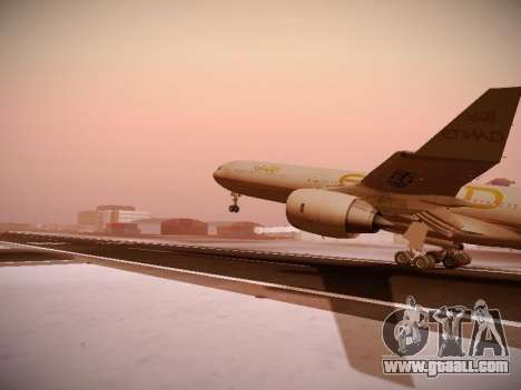Airbus A340-600 Etihad Airways for GTA San Andreas side view