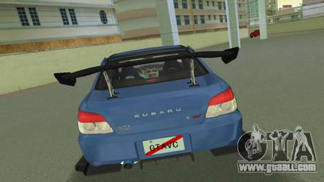 Subaru Impreza WRX STI 2006 Type 2 for GTA Vice City right view