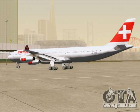 Airbus A340-313 Swiss International Airlines for GTA San Andreas side view