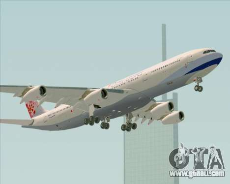 Airbus A340-313 China Airlines for GTA San Andreas upper view