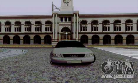 Audi A8 for GTA San Andreas inner view