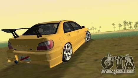 Subaru Impreza WRX 2002 Type 5 for GTA Vice City left view