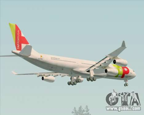 Airbus A340-312 TAP Portugal for GTA San Andreas interior
