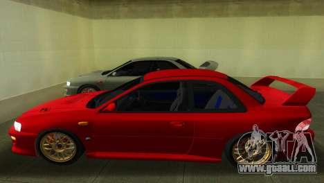 Subaru Impreza WRX STI GC8 22B for GTA Vice City back left view