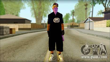 East Side Ballas Skin 2 for GTA San Andreas