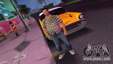 Kockas polo - barna T-Shirt for GTA Vice City