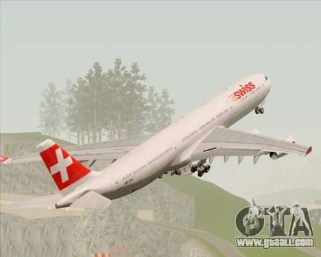 Airbus A340-313 Swiss International Airlines for GTA San Andreas engine