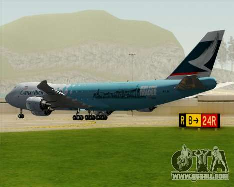 Boeing 747-8 Cargo Cathay Pacific Cargo for GTA San Andreas right view