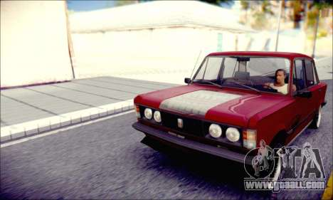 Fiat 125P Shark for GTA San Andreas back left view