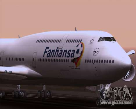 Boeing 747-830 Lufthansa - Fanhansa for GTA San Andreas upper view