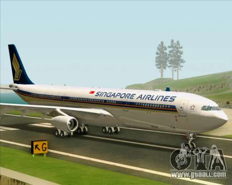 Airbus A340-313 Singapore Airlines for GTA San Andreas back left view