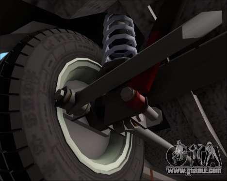 LADA 2107 for GTA San Andreas upper view