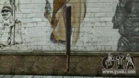 Machete from Assassins Creed 4: Freedom Cry for GTA San Andreas