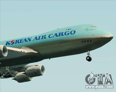 Boeing 747-8 Cargo Korean Air Cargo for GTA San Andreas back view