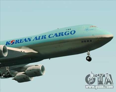 Boeing 747-8 Cargo Korean Air Cargo for GTA San Andreas back view