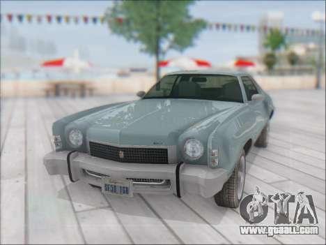 Chevrolet Monte Carlo 1973 for GTA San Andreas