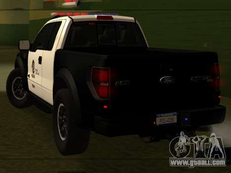 LAPD Ford F-150 Raptor for GTA San Andreas left view