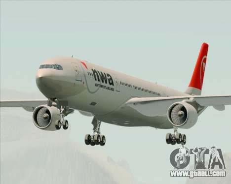 Airbus A330-300 Northwest Airlines for GTA San Andreas