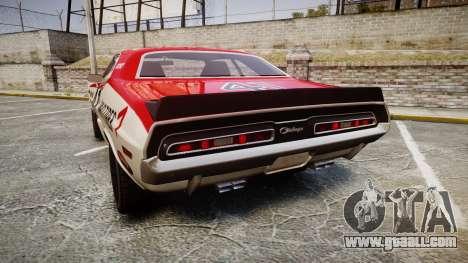 Dodge Challenger 1971 v2.2 PJ7 for GTA 4 back left view