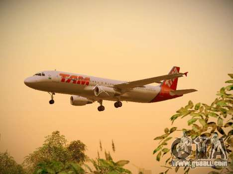 Airbus A320-214 TAM Airlines for GTA San Andreas side view