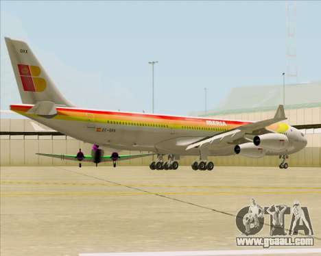 Airbus A340 -313 Iberia for GTA San Andreas right view