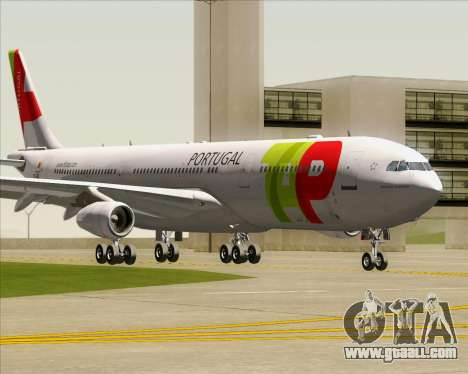 Airbus A340-312 TAP Portugal for GTA San Andreas left view