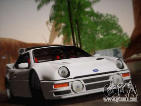 Ford RS200 Evolution 1985 for GTA San Andreas back view