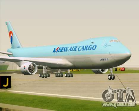 Boeing 747-8 Cargo Korean Air Cargo for GTA San Andreas left view