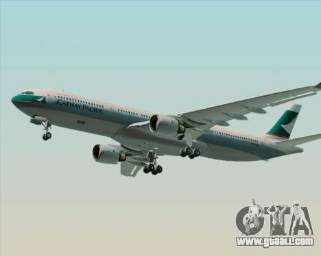 Airbus A330-300 Cathay Pacific for GTA San Andreas back left view