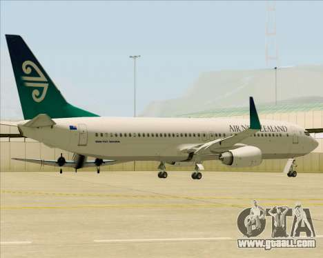Boeing 737-800 Air New Zealand for GTA San Andreas side view