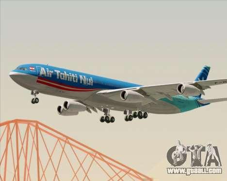 Airbus A340-313 Air Tahiti Nui for GTA San Andreas side view