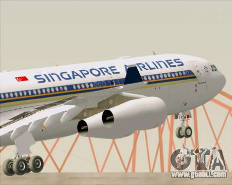 Airbus A340-313 Singapore Airlines for GTA San Andreas wheels