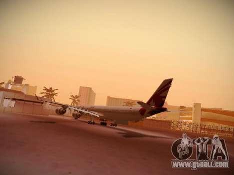 Airbus A340-600 Qatar Airways for GTA San Andreas right view