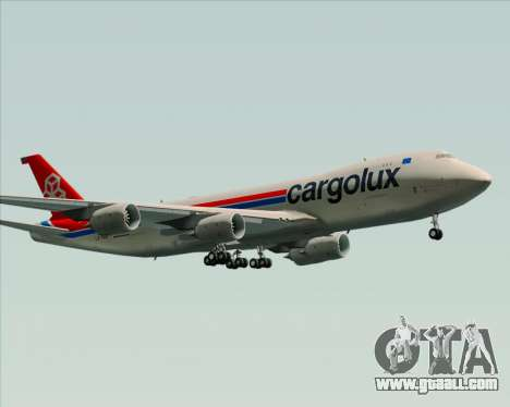 Boeing 747-8 Cargo Cargolux for GTA San Andreas upper view