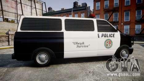Declasse Burrito Police for GTA 4 left view