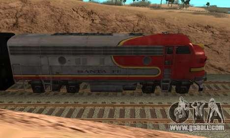 Santa Fe Superchief F7A for GTA San Andreas left view