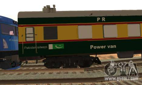 Pakistan Railways Train for GTA San Andreas back view
