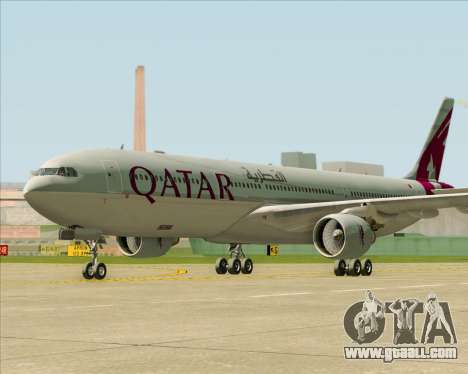 Airbus A330-300 Qatar Airways for GTA San Andreas back left view