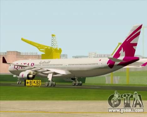 Airbus A330-300 Qatar Airways for GTA San Andreas right view