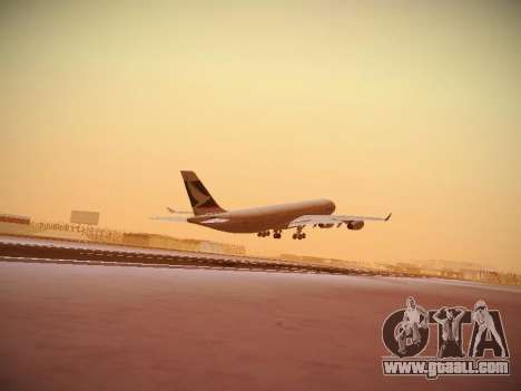 Airbus A340-300 Cathay Pacific for GTA San Andreas inner view