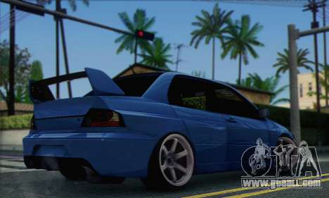 Mitsubishi Lancer Evolution IIX for GTA San Andreas left view