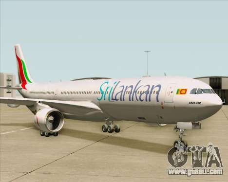 Airbus A330-300 SriLankan Airlines for GTA San Andreas left view
