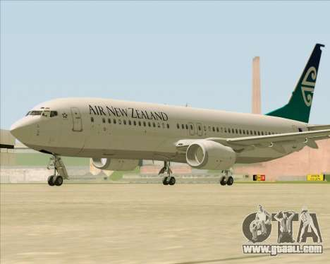 Boeing 737-800 Air New Zealand for GTA San Andreas back view