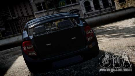 Lada Granta for GTA 4 back view