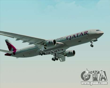 Airbus A330-300 Qatar Airways for GTA San Andreas back view
